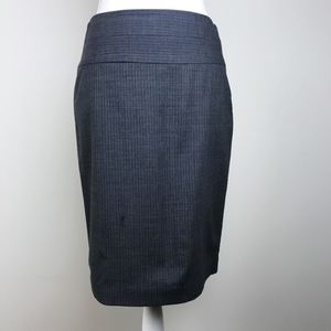 The Limited Luxe Gray Pinstripe Career Skirt